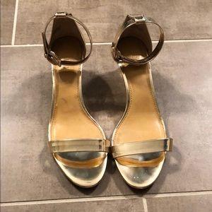 Gold Mirror JCrew Kitten Heels